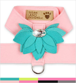 Water Lily Tinkie Two Tone Dog Harness by Susan Lanci Puppy's Home