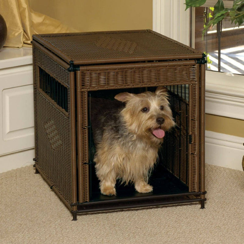 Mr. Herzher's Small Wicker Residence Crate Puppy's Home