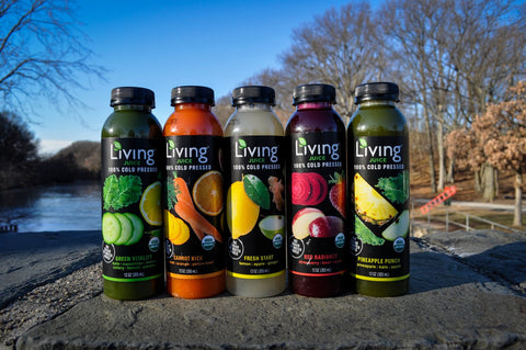 Drink Living Juice's Stress Reducing Cold-pressed Organic Juice Line Up