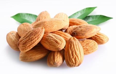 Organic almonds for organic almond milk by o2 living makers of Living Juice organic cold-pressed juice