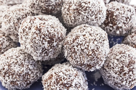 Raw Coconut Dusted Truffles, Live Food
