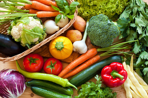 Fresh variety of veggies - O2 Living blog - makers of organic cold-pressed fruit and vegetable Living Juices