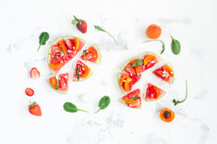 O2 Living blog - organic fruits watermelon pizza - blog by makers of organic cold-pressed fruit and vegetable Living Juice