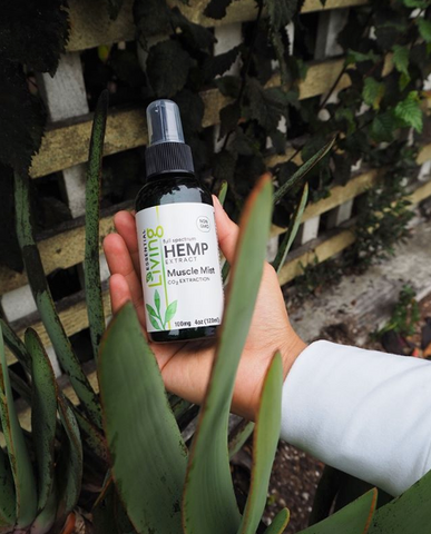 Living health and wellness hemp extract muscle mist CBD by O2 Living