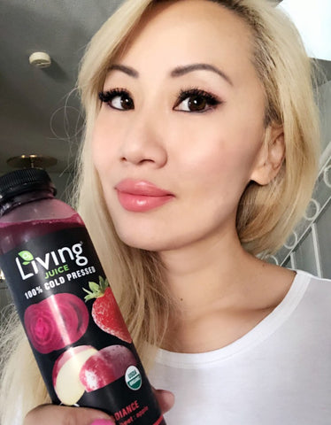 Lifestyle expert Kaila Yu tries organic cold-pressed Living Juice