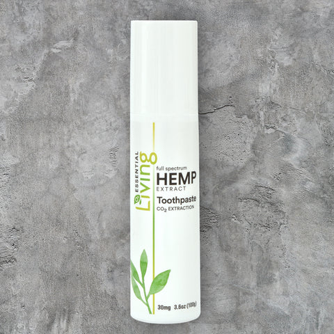 Living Hemp Extract Toothpaste with Tea tree oil by O2 Living available on Amazon