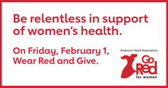 Go red for women - February is American Heart Health month - Organic, cold-pressed Living Juice blog