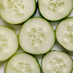 Organic Cucumber and Onion salad by Living Juice