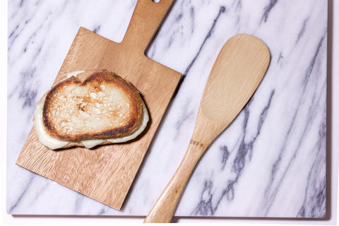Vegan french-onion inspired grilled cheese recipe by O2 Living makers of organic cold-pressed fruit and vegetable Living Juice