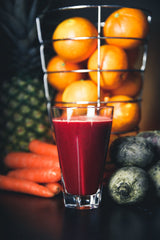 Organic berry coconut smoothie recipe by O2 Living makers of organic cold-pressed Living Juice