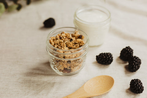 Granola - healthier vegan recipe by O2 Living makers of organic cold-pressed fruit and vegetable Living Juice