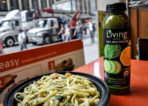 O2 Living blog - organic cold-pressed Living Juice with a healthy pasta- by makers of Living health and wellness CBD