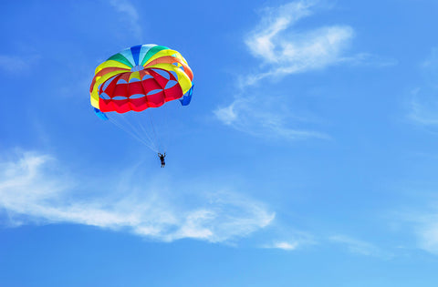 O2 Living blog - parachuting - by makers of Living Health and Wellness hemp extract CBD and progesterone products