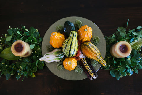 Healthy, organic, vegan Thanksgiving brussel sprouts and butternut squash by Living Juice
