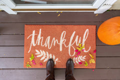 thankful welcome mat - O2 Living blog by makers of organic, cold-pressed fruit and vegetable Living Juice