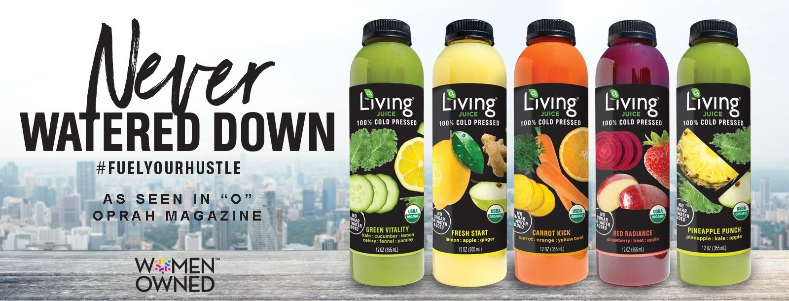 Living Juice Organic, cold-pressed fruit and vegetable juices for delivery
