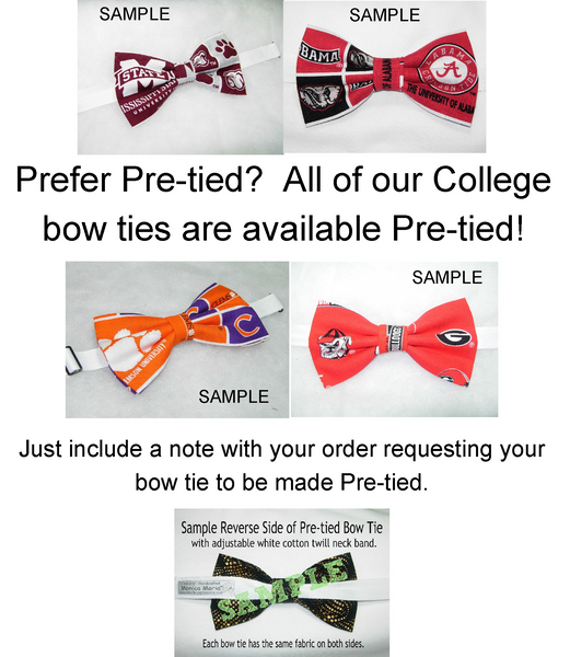 MIAMI HURRICANES BOW TIE (BLOCKS)