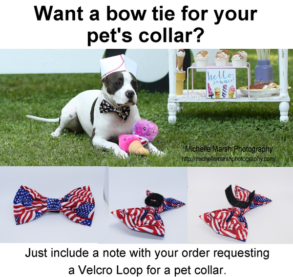Fireworks Bow tie / Red, White & Blue Fireworks / Pre-tied Bow tie