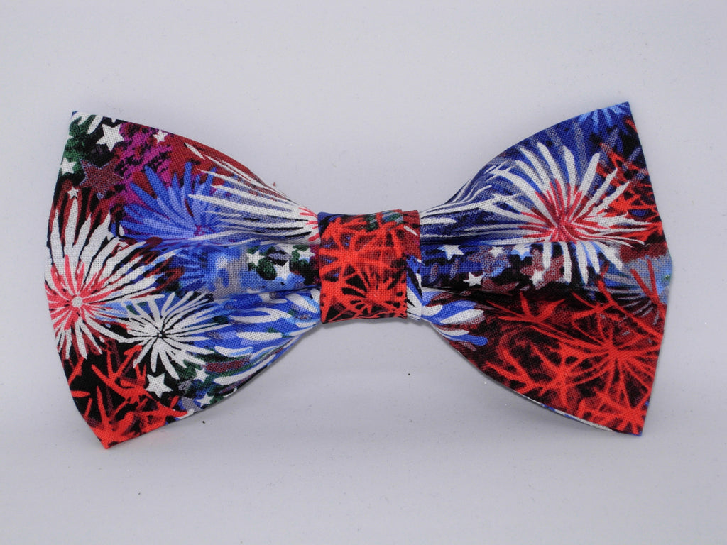 Fireworks Bow tie / Red, White & Blue Fireworks / Pre-tied Bow tie - Bow Tie Expressions