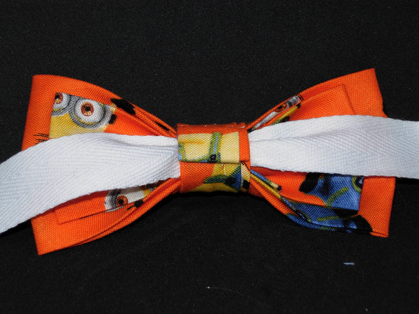 Minion Bow tie & Suspender Set - Blue/Orange - Boys Suspenders - 6mo. - 6yrs. - Bow Tie Expressions