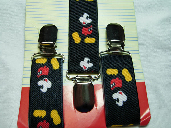 Mickey Mouse Bow Tie & Suspender Set - Boys Mickey Mouse Suspenders - Ages 6mo. - 6 yrs - Bow Tie Expressions