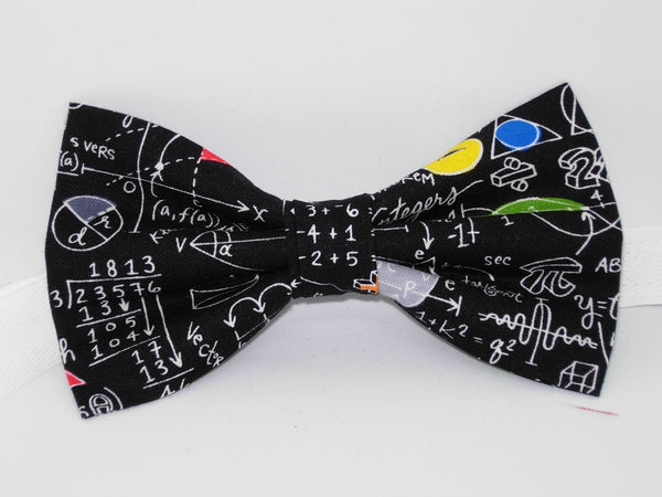 Geometry Class Bow tie / Math Equations & Colorful Shapes / High School / Pre-tied Bow tie - Bow Tie Expressions