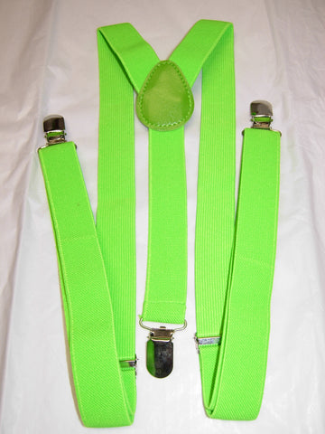 Light Green Suspenders - Mens Suspenders - Teen Suspenders - Medium/Large
