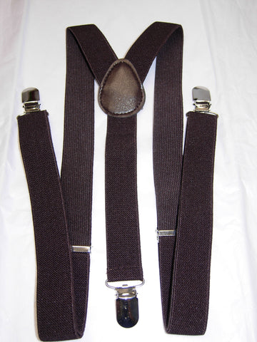 Brown Suspenders - Mens Suspenders - Teen Suspenders - Medium/Large