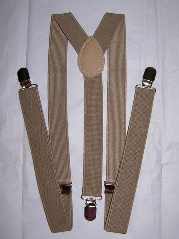 Khaki Tan Suspenders - Mens Suspenders - Teen Suspenders - Medium/Large