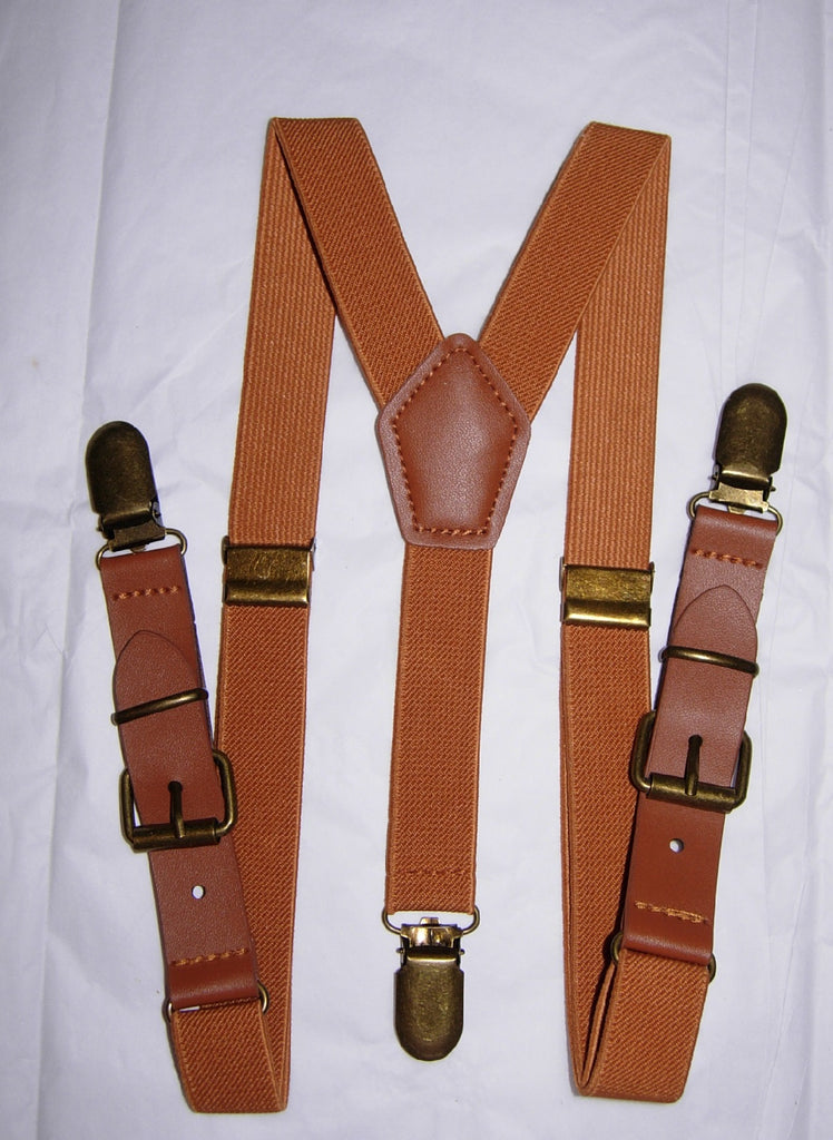 Leather Buckle Suspenders - Boys Suspenders - Ages 6mo. - 6yrs.