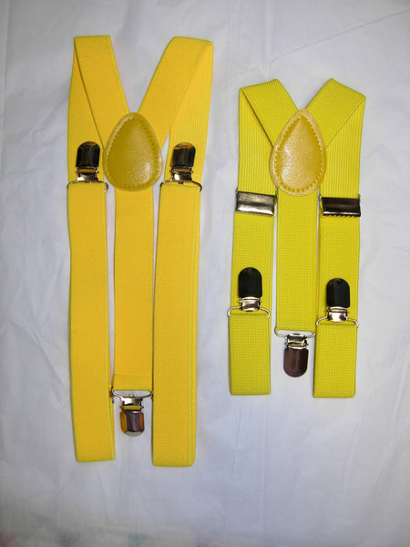 Yellow Suspenders - Mens Suspenders - Boys Suspenders - Small/Medium/Large