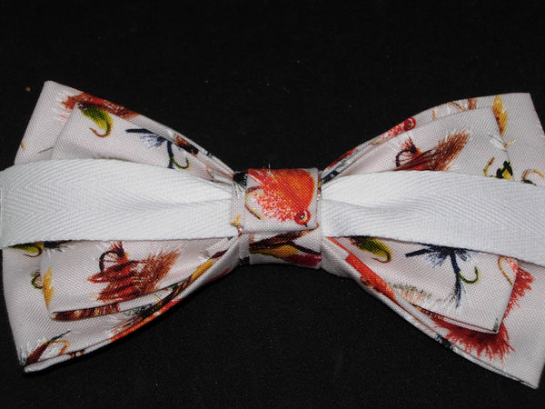 Fly Fishing Bow tie / Colorful Fly Fishing Flies / Pre-tied Bow tie