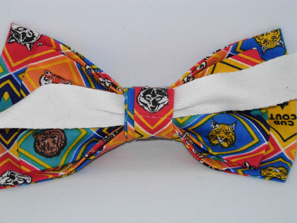 Cub Scout Badges Bow tie / Tiger, Wolf, Bear, Bobcat, Webelos / Self-tie & Pre-tied Bow tie - Bow Tie Expressions
