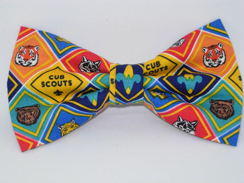 Cub Scout Badges Bow tie / Tiger, Wolf, Bear, Bobcat, Webelos / Pre-tied Bow tie - Bow Tie Expressions