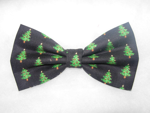 HOME FOR THE HOLIDAYS! BOW TIE - DECORATED MINI CHRISTMAS TREES ON BLACK - Bow Tie Expressions  - 2