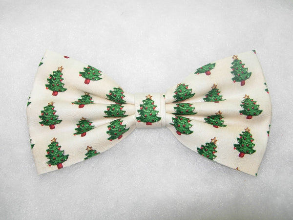 HOME FOR THE HOLIDAYS! BOW TIE - DECORATED MINI CHRISTMAS TREES ON IVORY - Bow Tie Expressions  - 2