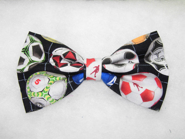 ROWS OF COLORFUL SOCCER BALLS PRE-TIED BOW TIE - Kickin' it! - Bow Tie Expressions