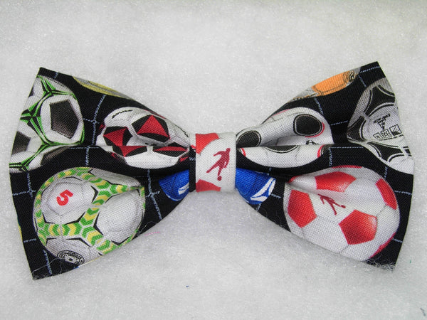 ROWS OF COLORFUL SOCCER BALLS BOW TIE - Kickin' it!