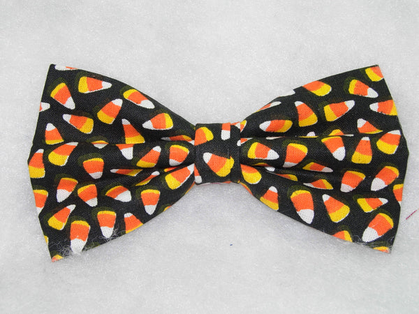 MINI CANDY CORN ON BLACK PRE-TIED BOW TIE - EVERYONE'S FAVORITE! - Bow Tie Expressions