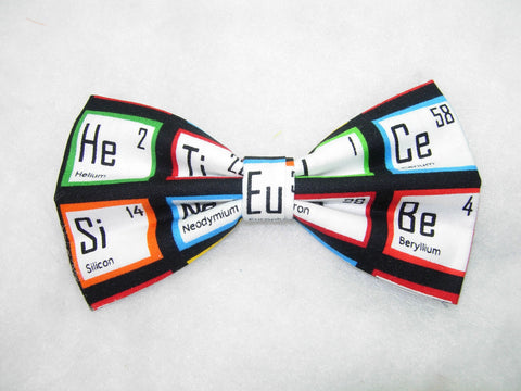 IT'S ELEMENTAL PRE-TIED BOW TIE - THE PERIODIC TABLE OF ELEMENTS ON BLACK - Bow Tie Expressions  - 1