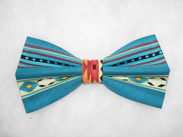 Navajo Bow tie / Fire & Water / Southwest Native American / Self-tie & Pre-tied Bow tie - Bow Tie Expressions