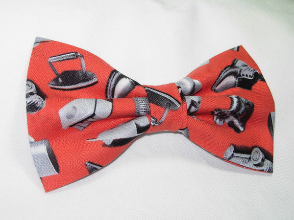 CLASSIC MONOPOLY PLAYING PIECES ON RED PRE-TIED BOW TIE - Bow Tie Expressions