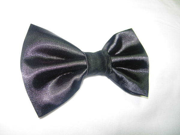 SHINY SATIN PRE-TIED BOW TIE - BLACK, FUCHSIA PINK, ROYAL BLUE, RED & JADE GREEN - Bow Tie Expressions  - 3