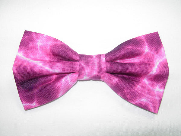 Shocking Pink Bow tie / Lightning Bolts on Fuchsia Pink / Self-tie & Pre-tied Bow ties - Bow Tie Expressions