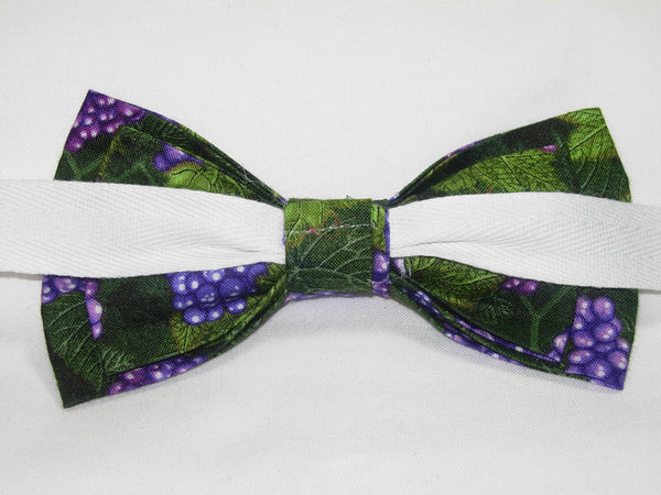 LUSCIOUS PURPLE GRAPES & LEAVES BOW TIE - Bow Tie Expressions  - 4