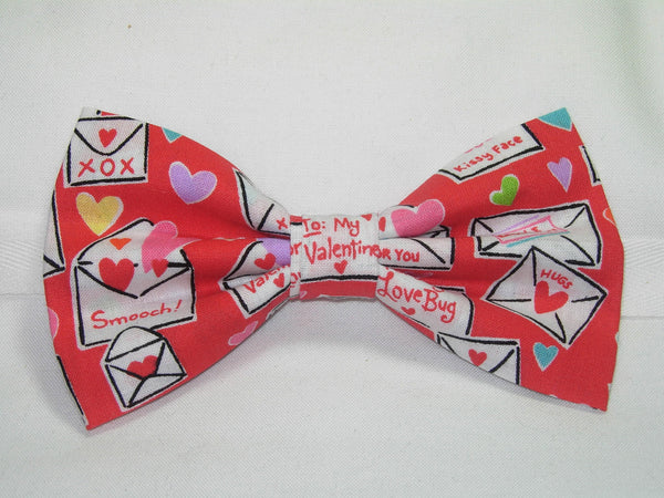 CUTIE PIE VALENTINE PRE-TIED BOW TIE - CUTIE PIE VALENTINES & HEARTS ON RED - Bow Tie Expressions  - 1