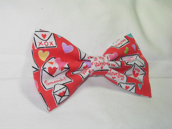 CUTIE PIE VALENTINE PRE-TIED BOW TIE - CUTIE PIE VALENTINES & HEARTS ON RED - Bow Tie Expressions  - 2