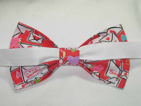 CUTIE PIE VALENTINE PRE-TIED BOW TIE - CUTIE PIE VALENTINES & HEARTS ON RED - Bow Tie Expressions  - 3