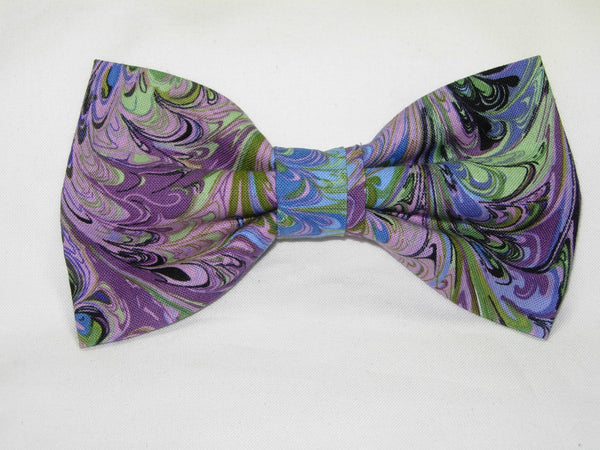 Abstract Art Bow Tie / Flowing Colors / Purple, Pink, Blue, Green / Self-tie & Pre-tied Bow tie - Bow Tie Expressions
