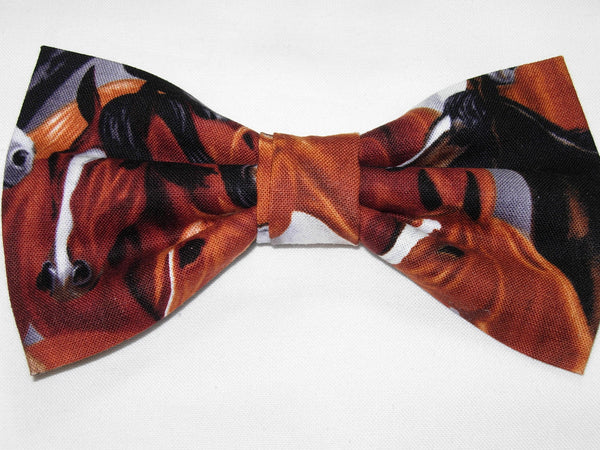 Horse Bow tie / Black, Brown, White, Chestnut Horses / Equestrian / Wild Stallion / Self-tie & Pre-tied Bow tie - Bow Tie Expressions